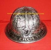 helm ukir, helm perak, kerajinan helm kotagede, helm tatah, hard had, model helm perak, helm alumunium, helm kuningan, helm tembaga, miniatur helm